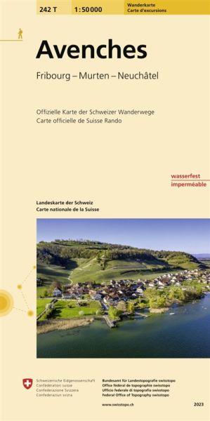 242 T Avenches Wanderkarte 1:50.000 - Swisstopo
