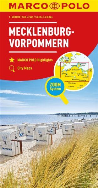 Mecklenburg-Vorpommern Straßenkarte 1:200.000, Marco Polo Bl. 02
