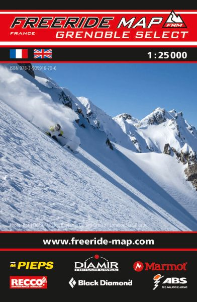 Freeride Map Grenoble Select, Skitourenkarte 1:25.000