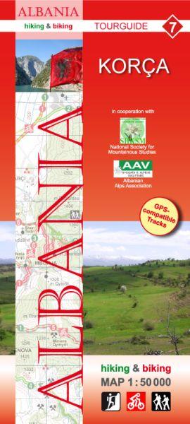 7 Korça: Albanien Wander- und Radwanderkarte 1:50.000