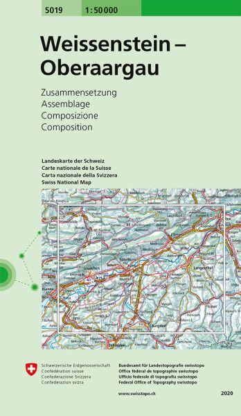 5019 Weissenstein - Oberaargau topographische Wanderkarte Schweiz 1:50.000