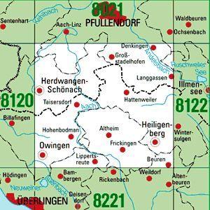 8121 HEILIGENBERG topographische Karte 1:25.000 Baden-Württemberg, TK25