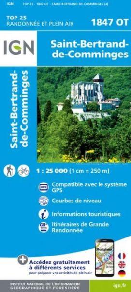 IGN 1847 OT St-Bertrand-de-Comminges, Frankreich Wanderkarte 1:25.000