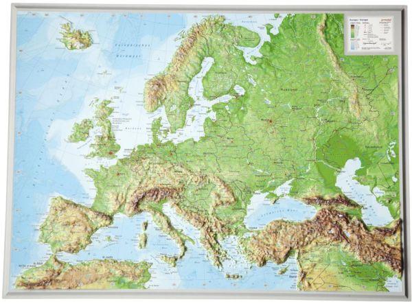 Europa Relief klein ohne Rahmen – 39 cm x 29 cm