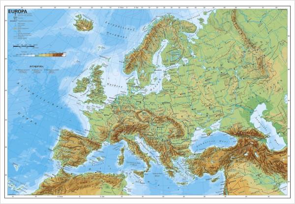 Europakarte physisch Poster vom Stiefel Verlag 95x66 cm