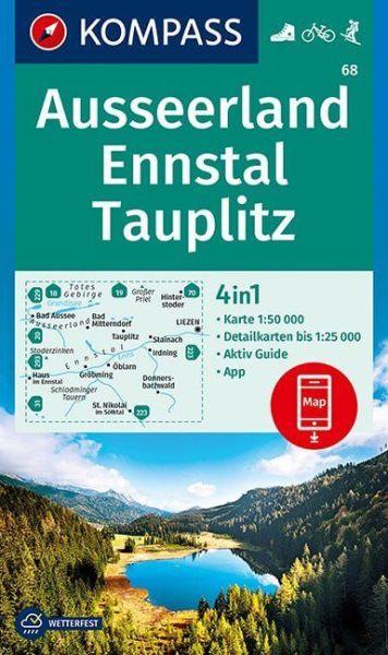 Kompass Karte 68, Ausseerland, Ennstal 1:50.000, Wandern, Rad fahren