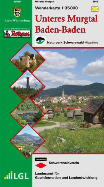Unteres Murgtal Wanderkarte 1:35.000 Schwarzwaldverein