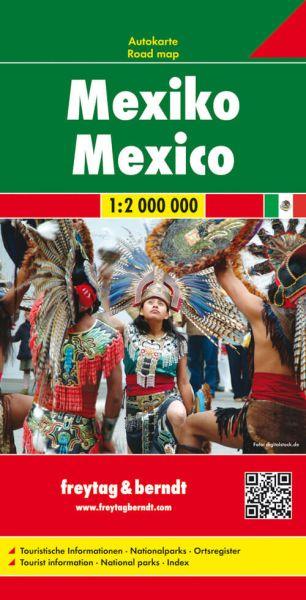 Mexiko, Landkarte 1:1.500.000, Freytag und Berndt