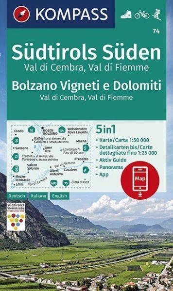 Kompass Karte 74 Sudtirols Suden Wanderkarte Radkarte