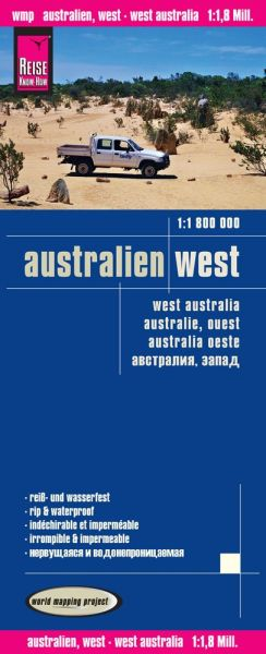 Australien West Landkarte 1:1.800.000 - Reise Know-How