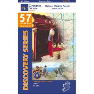 OSI 57 Clare Wanderkarte 1:50.000 - Ordnance Survey Ireland