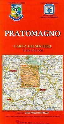 Pratomagno Carta dei Sentieri, Wanderkarte 1:25.000