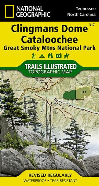 Clingmans Dome, Cataloochee Trail Map (317), NG | Das Landkartenhaus