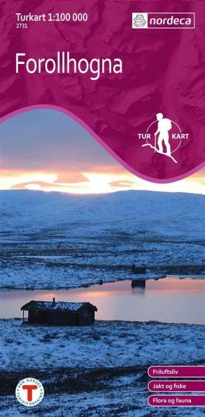 Norwegen topographische Wanderkarte Forollhogna 1:100.000, Turkart 2731