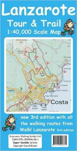 Lanzarote Wanderkarte 1 40 000 Tour Trail Map