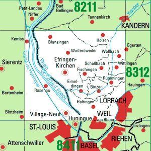 8311 LÖRRACH topographische Karte 1:25.000 Baden-Württemberg, TK25