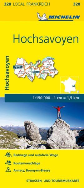 Michelin local 328 Hochsavoyen Straßenkarte 1:150.000