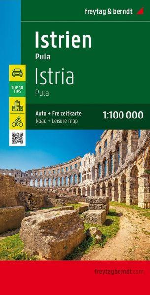 Istrien - Pula, Straßenkarte 1:100.000, Freytag und Berndt