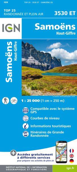 IGN 3530 ET Samoens, Haut-Giffre, Frankreich Wanderkarte 1:25.000