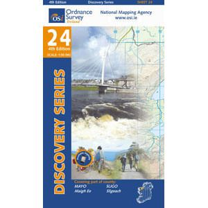 OSI 24 Mayo, Sligo, Wanderkarte 1:50.000 - Ordnance Survey Ireland