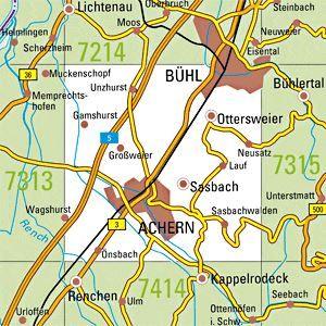 7314 BÜHL topographische Karte 1:25.000 Baden-Württemberg, TK25