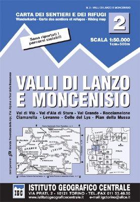 IGC 2 - Wanderkarte für Valli di Lanzo e Moncenisio 1:50.000