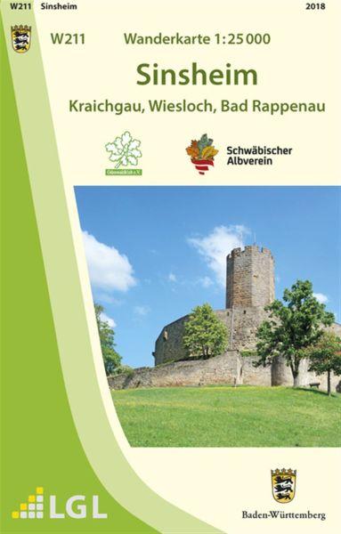 Sinsheim W211, Wanderkarte 1:25.000 Schwäbischer Albverein