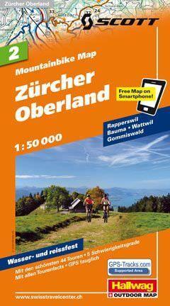 Hallwag Mountainbike Map Bl.2, Zürcher Oberland, 1:50.000, Wasser- und reißfest