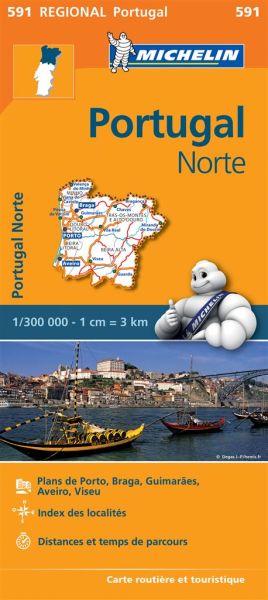 Michelin regional 591 Portugal Nord 1:300.000