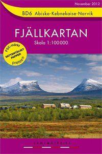 Fjällkartan BD6 Schweden Trekking- und Wintersportkarte 1:100.000