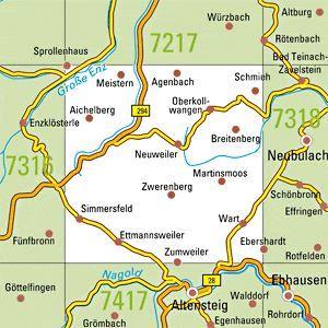 7317 NEUWEILER topographische Karte 1:25.000 Baden-Württemberg, TK25