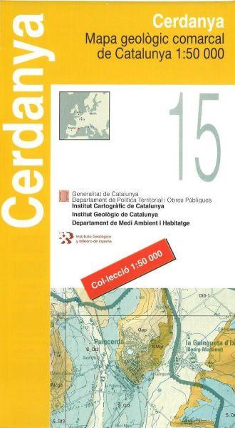 Cerdanya (Pyrenäen), Katalonien topographische Karte, 1:50.000, ICC 15