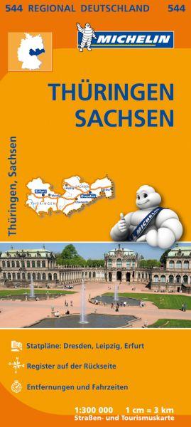 Michelin 544 Thüringen, Sachsen; Straßenkarte