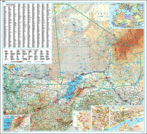 GIZI Länderkarte Mali Posterkarte 96 cm x 88 cm