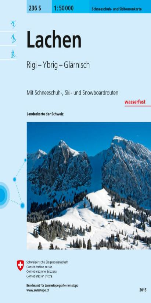 236 S Lachen wasserfeste Skitourenkarte Schweiz 1:50.000