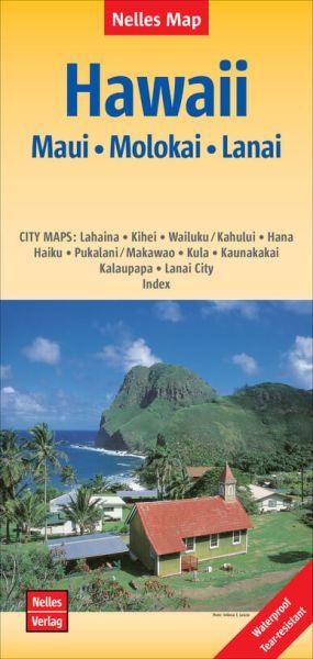 Nelles Maps, Hawaii: Maui, Molokai, Lanai 1:150.000, wasser- und reißfest