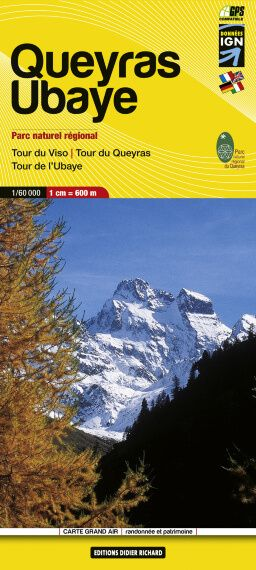 Editions Didier Richard 06 Queyras / Ubaye Wanderkarte 1:60.000