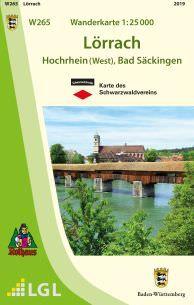 Lörrach W265, Wanderkarte 1:25.000, Schwarzwaldverein