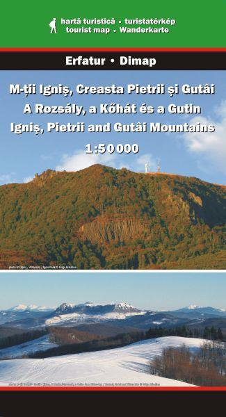 Karpaten Wanderkarte: Ignis-, Creasta Pietrii- und Gutai-Gebirge 1:50.000, Dimap