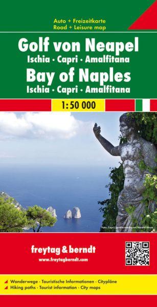 Golf von Neapel, Ischia, Capri, Straßenkarte 1:50.000, Freytag und Berndt