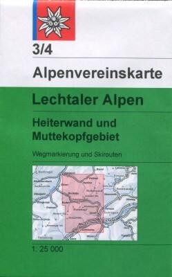 DAV Alpenvereinskarte 3/4 Lechtaler Alpen, Ski- und Wanderkarte 1:25.000