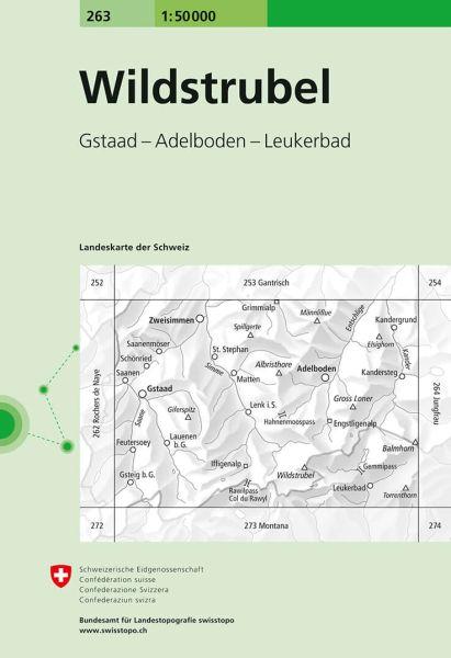 263 Wildstrubel topographische Wanderkarte Schweiz 1:50.000