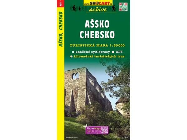 Assko (Ascher Ländchen), Egerland Wanderkarte 1:50.000 - SHOCart 005