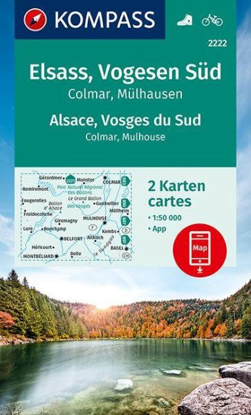 Kompass Karte 2222 Elsass Vogesen Sud Wanderkarte