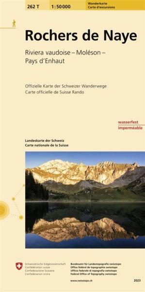 262 T Rochers de Naye Wanderkarte 1:50.000 - Swisstopo