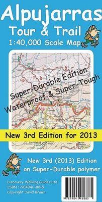 Alpujarras Wanderkarte 1:40.000 Tour & Trail Map, reiss- und wasserfest