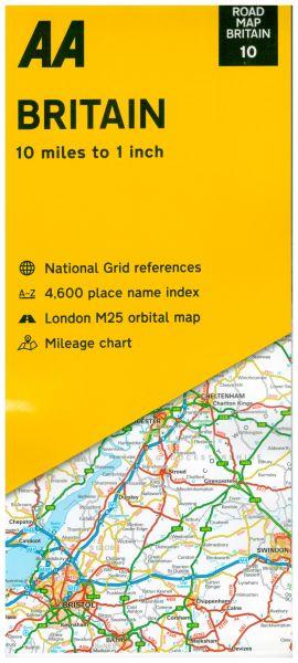 AA Straßenkarte Blatt 10, Britain 1:633.600