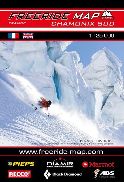 Freeride Map Chamonix Süd, Skitourenkarte 1:25.000