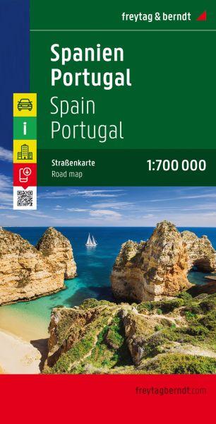 Spanien, Portugal, Straßenkarte 1:700.000, Freytag und Berndt