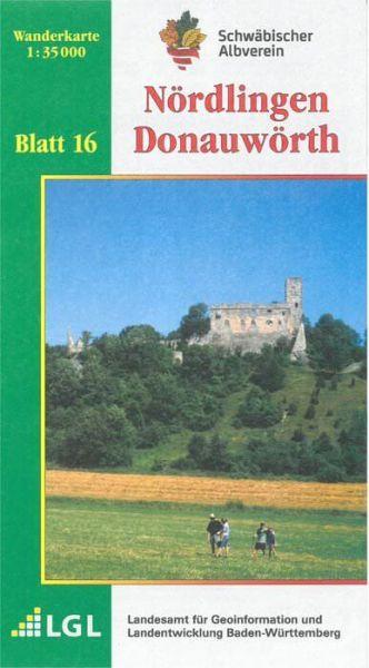 Nördlingen - Donauwörth Wanderkarte 1:35.000 Schwäbischer Albverein